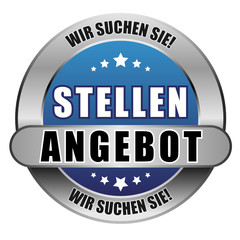 5 Star Button blau STELLENANGEBOT WSS WSS