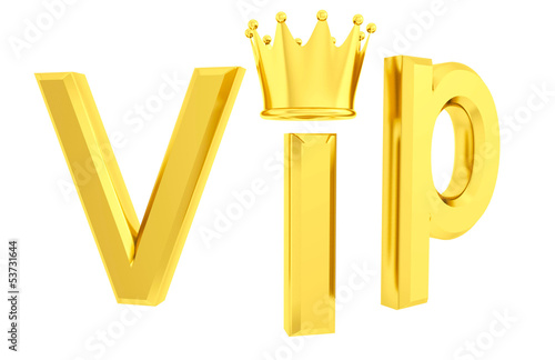 Vip 3d isolated