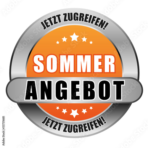 5 Star Button orange SOMMERANGEBOT JZ JZ