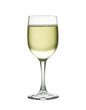 Wineglass with sparkling white wine. Concept and idea