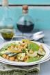chickpeas and zucchini salad.