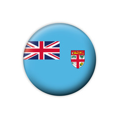 Vector flag button series Fiji