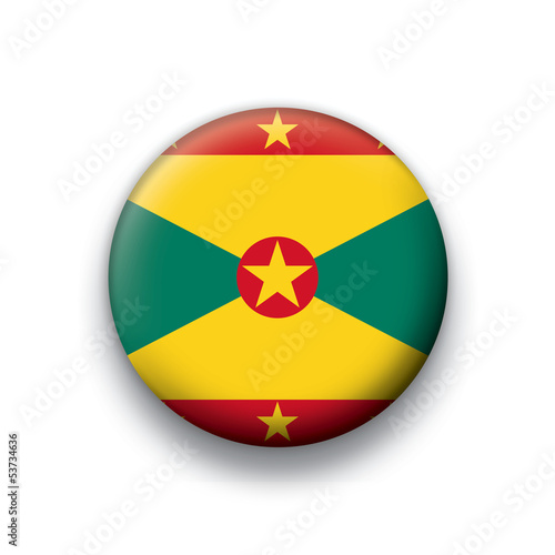 Vector flag button series Grenada