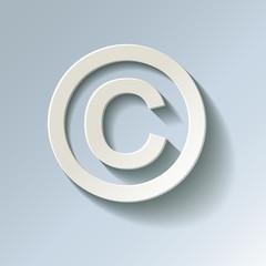 Copyright SYMBOL Papier Blau Kalt Frost
