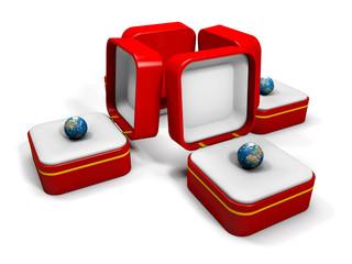 scatolini con terra