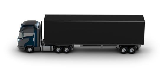 Truck with container isolated on white. My own design