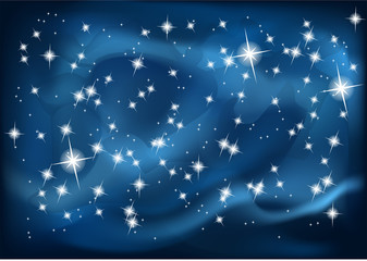 night sky. vector illustration in 10 EPS