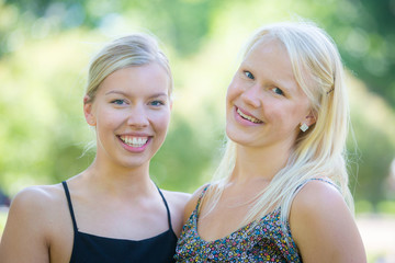 Two Beautiful Finnish Girl at Park