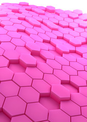 abstract background with rose hexagons