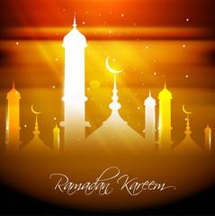 Fantastic ramadan kareem colorful card design vector