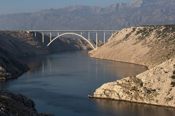 Maslenica bridge on highway A1, Croatia