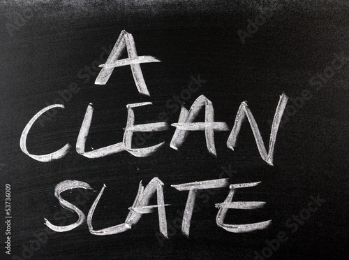 A Clean Slate on a Blackboard