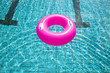 swimming pool rings on the water
