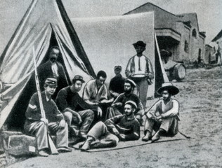 Encampment of Union soldiers (American Civil War)