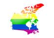 Gay flag Canada map