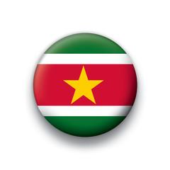 Vector flag button series Suriname