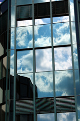 Spiegelverglastes Bürogebäude