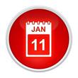 kalender button rot rund