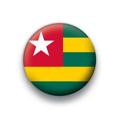 Vector flag button series Togo