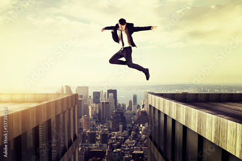 Leinwandbild Motiv Jump