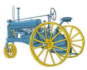 blue tractors vintage