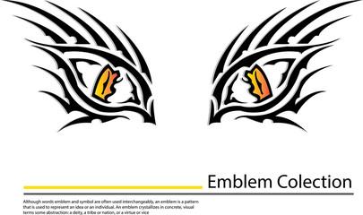 close up of tiger eye vector