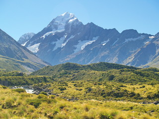 Aoraki (Mount Cook), a highest mountain in New Zealand