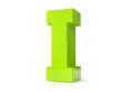3d green letter - I