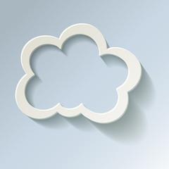 Cloud Cloud-Computing Rechnen in der Wolke Leer Kalt Frost
