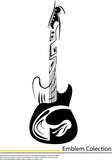 Vector image of  crossed guitars and pattern