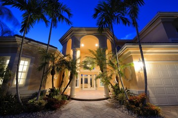 Tropical Home Entrance