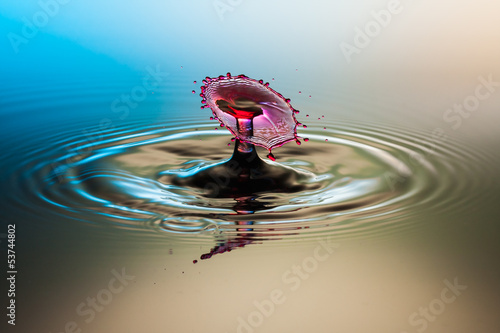 Red drop splash