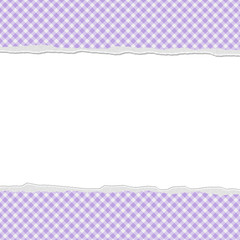 Purple Gingham Torn Background for your message or invitation