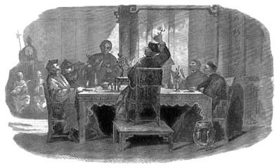 Chinese Mandarin dining at Home - 19th century