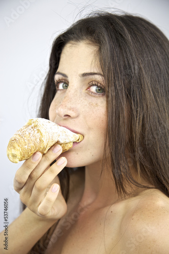 Hungry for Croissant with sugar goodbye diet