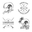 Set of vintage surfing labels and badges - 53747673