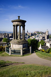 Edinburgh City And Castle Viewed From Calton Hill