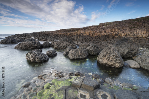 Rocky coastline The Giants Causeway, North Irealand