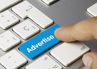 Advertise keyboard key finger