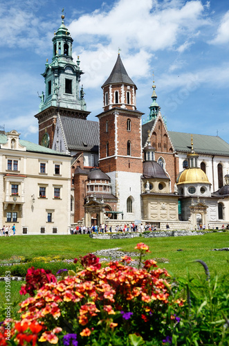 Gothic Wawel fortess in Krakow,Poland,Famous landmark