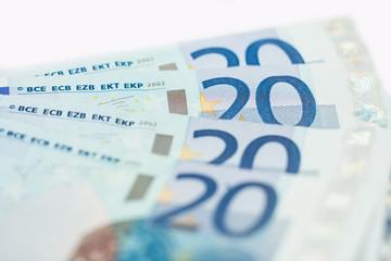 20 euro bank notes