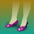 Постер, плакат: Фиолетовые туфли
