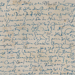 Handwriting / Seamless archaic letter