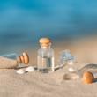 Urlaubserinnerungen, Sommerferien, Strand, Stilleben