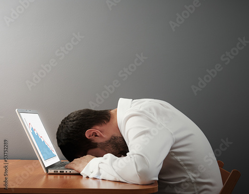 man sleeping on the keyboard