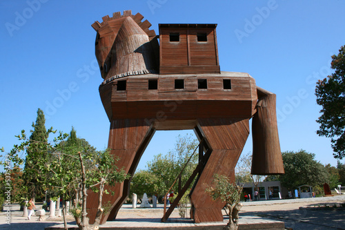 Trojan Horse in Troia,Canakkale,Turkey