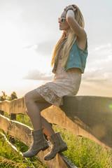 Blondynka - zachód słońca