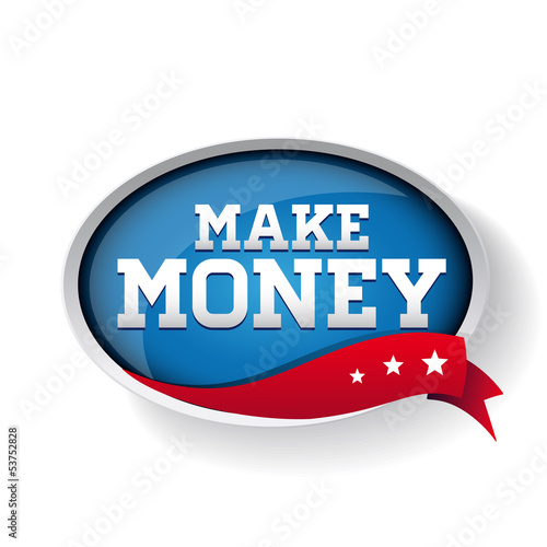Make money blue button