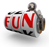 Fun Word Slot Machine Wheels Enjoyment Entertainment poster