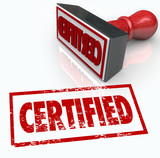 Certified Stamp Official Verification Seal of Approval poster